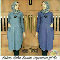 Baju Atasan Baju Muslim Tunik Pocket(Supernova)L