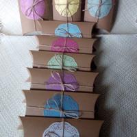 PAKET PILLOW BOX/KOTAK KADO BROWN KRAFT 280 gr, 21 X 11,5 X 4 Cm