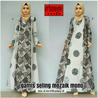 Dress Gamis Batik Seling Mozaik Mono