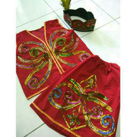 Baju Kostum Karnaval Anak SD Adat Daerah Dayak Kalimantan