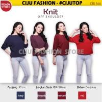 Knit Off Shoulder Top Sweater Blouse Atasan Wanita CBL166