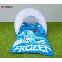 Kasur Bayi Lipat Berkelambu Motif Karakter Frozen I Tempat Tidur Bayi