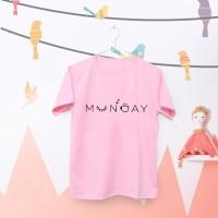 Tumblr Tee / T-Shirt / Kaos Wanita Lengan Pendek MUNDAY Warna Pink