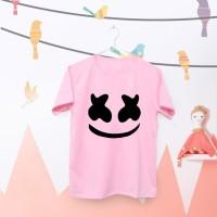 Tumblr Tee / T-Shirt / Kaos Wanita Lengan Pendek Marshmello Warna Pink