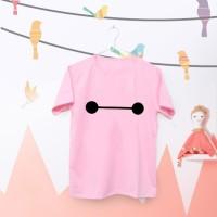 Tumblr Tee / T-Shirt / Kaos Wanita Lengan Pendek BAYMAX Warna Pink