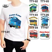 Baju / Kaos Dewasa / Pria / Wanita / Unisex / Tayo The Little Bus