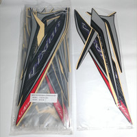 Striping Lis Bodi & Stiker Body Vixion 2013 Hitam Full