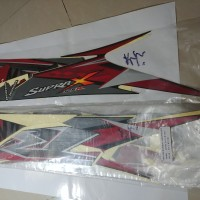 Striping Lis Bodi & Stiker Body Supra X 125 2010 Hitam Full