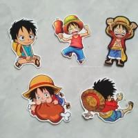 Stiker One Piece Monkey D Luffy