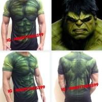 Populer Baju kaos gym fitness hulk 03 sixpack