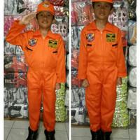 Baju Pilot Pesawat Tempur (Usia 8-10 Thn)
