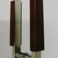 pull handel pintu kayu datar mahoni 35 cm