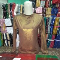 Manset Atasan Gliter Metalik  Dalaman Baju Kebaya Mewah