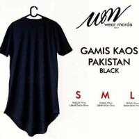 Bestseller T-Shirt Kaos Polos Long Line Hitam Terbaru