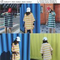 Yellow,Green Big Oversize Stripe (M,L,XL) Top -32430