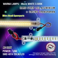Hard Strip LED 4014 Warm White AC 220V 14 Watt Casing Transparan Mika