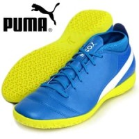 Sepatu Futsal Puma One 17.4 IT Biru Kuning Original Asli Murah