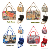 Tas travelbag Paris complete series kanvas tebal serbaguna anak dewasa