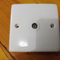 Saklar 1gang Tv antenna visalux cable outlet sambungan TV