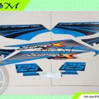 Striping Stiker Honda suprax supra x 125D 125 d biru hitam 2007
