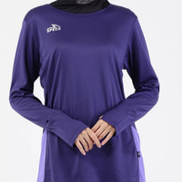 baju atasan olah raga gym senam wanita muslimah specs allegia LS W