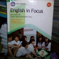 BUKU ENGLISH IN FOCUS UNTUK SMP KELAS VIII.TERBITAN BSE