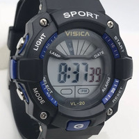 jam tangan digital sprorty anak remaja water resist visica skmei casio