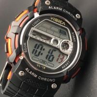 jam tangan digital sporty anak remaja water resist visica skmei casio
