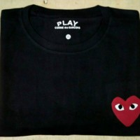 Kaos t-shirt kaos pria Big Size 3xl 4xl Play CDG