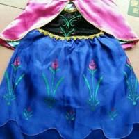 Promo!! Baju Dress Anak Kostum Frozen Princess Ana