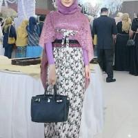 AF Setelan Baju Kebaya Brukat Batik Modern Terbaru Bila