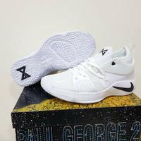 sepatu basket nike pg 2 low white