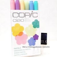 Copic Ciao Set 6 warna Pastel