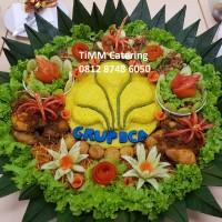 Nasi Tumpeng Kuning Vegetarian 20 org (55cm)