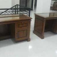 Meja kantor 1/2 biro jati jepara (sofa bufet meja divan lemari