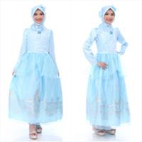 baju muslim anak princess cinderella