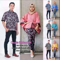 couple baju kemeja & kebaya batik rabbani
