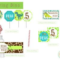 Dinosaurs Birthday - Dessert Table Set - Snack Label - Dinosaurs