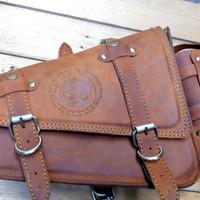 side bag leather for choper/sporter (tas motor kulit)