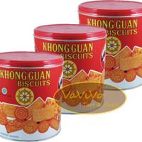 Khong Guan Biskuit Red Mini 650 / Khong Guan Kaleng Kecil Assorted