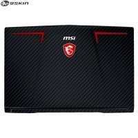 9Skin - Premium Skin for MSI GE63 7RD Raider - 3M Black Carbon (FRONT)