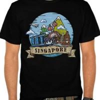 Kaos Baju Tshirt Distro Singapore Art Hitam