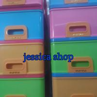 lemari / laci plastik kontainer infini lion star susun 4 (gojek only)