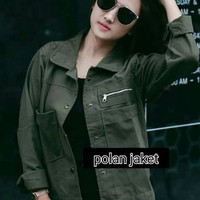 jaket wanita army hijau jacket baju luaran outer remaja anak wanita