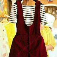 fgh jumsuit js sabri polos MAROON/ baju wanita celana blouse kaos atas