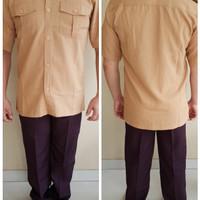Atasan Baju KEMEJA Seragam Guru Kakak Pembina Pramuka Cowok/Pria/Laki