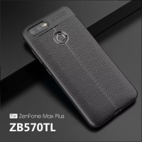 Leather Case Asus Zenfone Max Plus M1 Silicone Softcase Kulit Cover