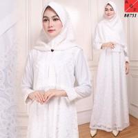 Baju Muslim /Busana Muslim/Baju Syari Putih #80751 JMB - Putih, 3L