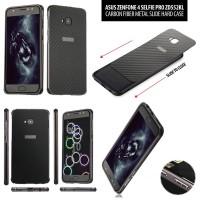 Asus Zenfone 4 Selfie Pro ZD552KL - Carbon Fiber Metal Slide Hard Case