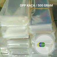 [ Harga Per 500 Gram ] Plastik Opp kaca Bening Untuk Kemasan Aksesoris